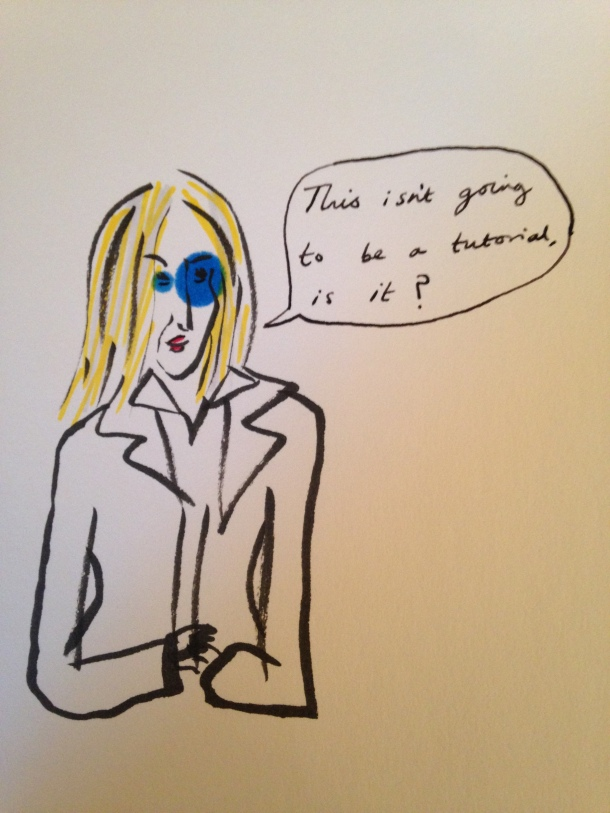 Pen exploded. Apologies. But I think the blue auras bring out the terror in her eyes.